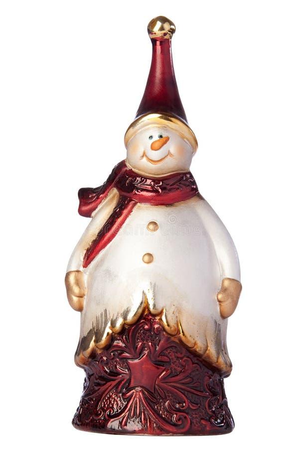 Bonhomme de neige de figurine de Noël image stock