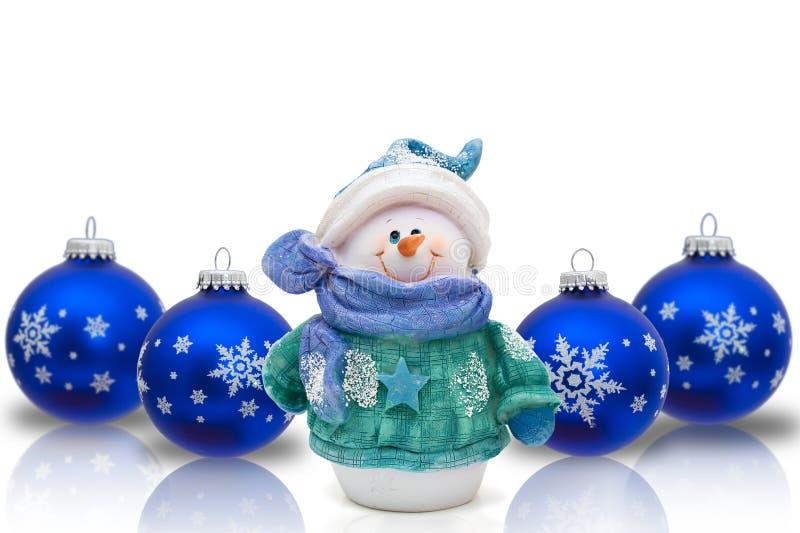 Bonhomme de neige de temps de Noël photos libres de droits