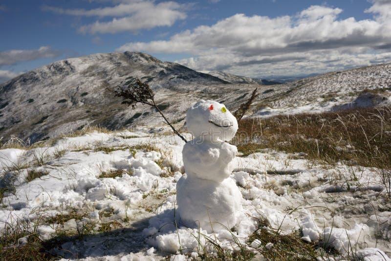 Bonhomme de neige, femme de neige photos stock