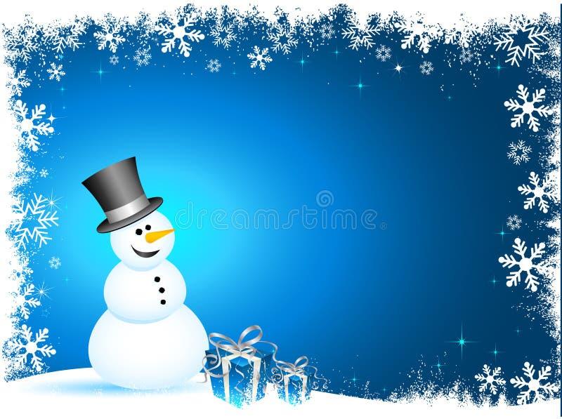 Bonhomme de neige heureux illustration stock