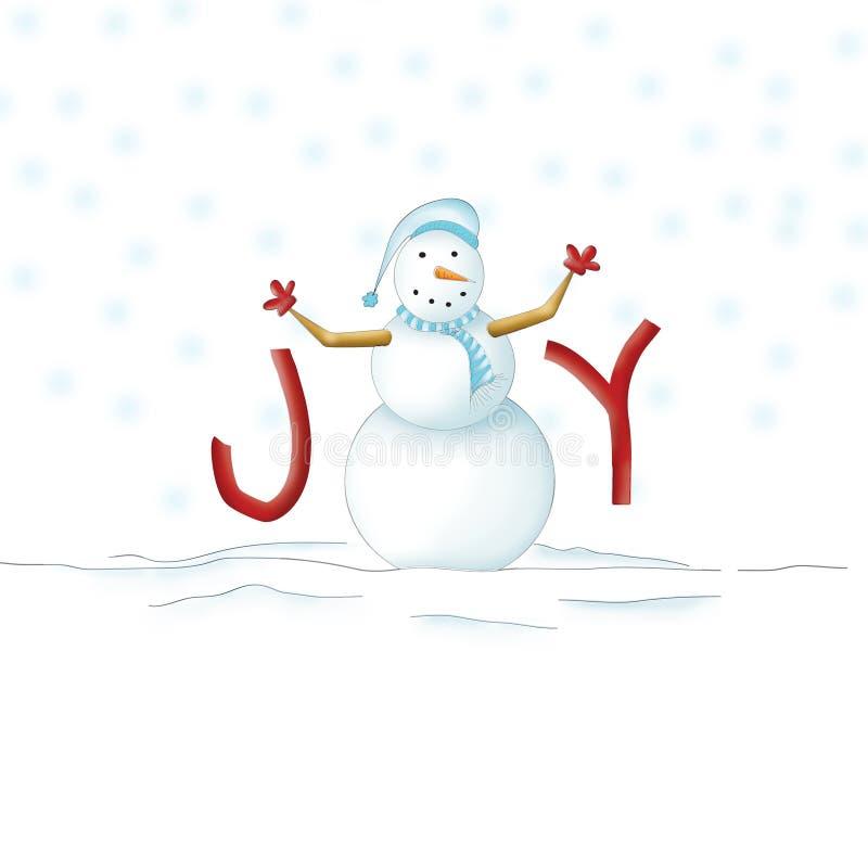 Bonhomme de neige joyeux image libre de droits