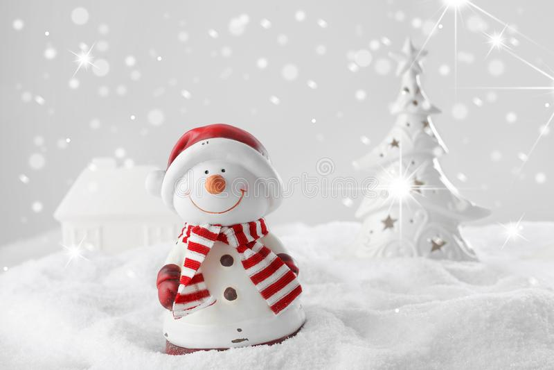 Bonhomme de neige de Noël photo libre de droits