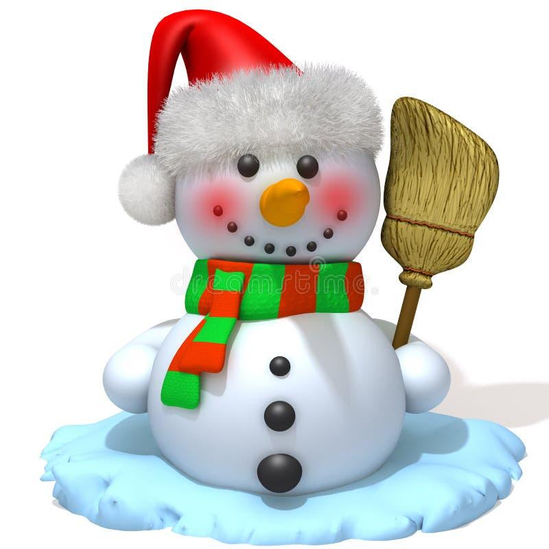 Bonhomme de neige Santa Claus illustration de vecteur