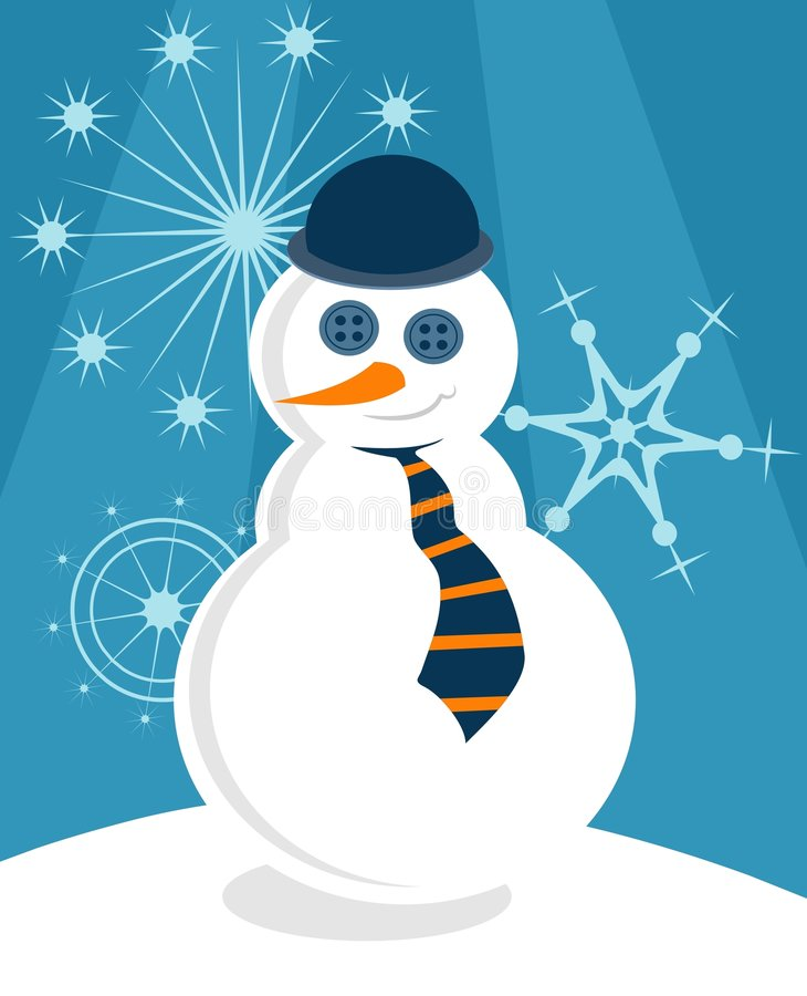 Bonhomme de neige snob illustration stock