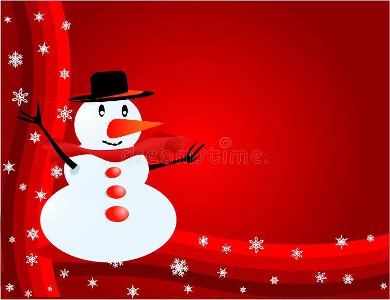 Bonhomme de neige - Visiter-carte illustration libre de droits
