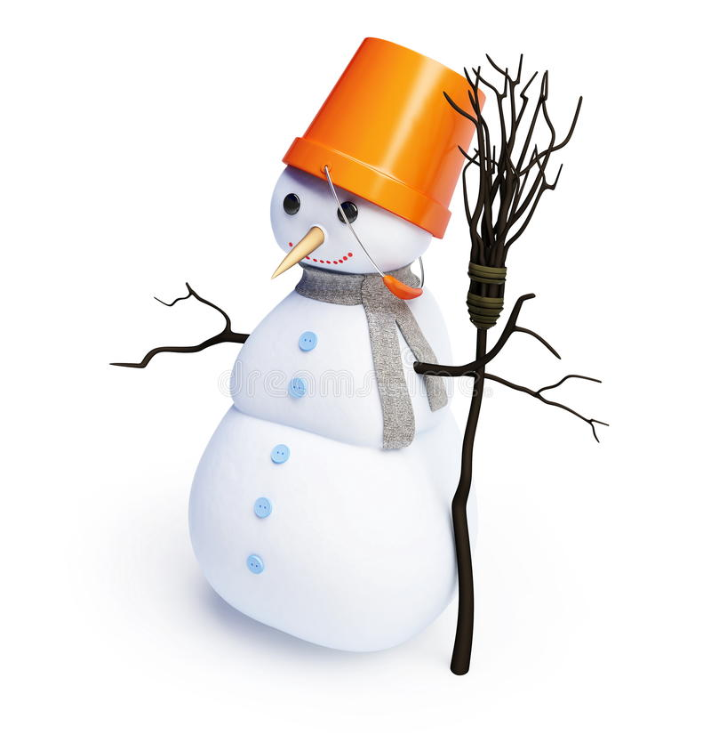 Bonhommes de neige illustration libre de droits