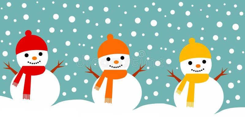 Bonhommes de neige illustration de vecteur