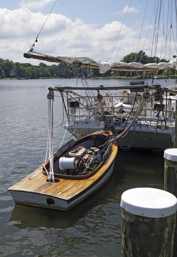 Bonieten Pushboat royalty-vrije stock foto