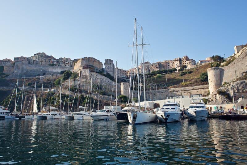 Bonifacio,可西嘉岛,法国 免版税图库摄影