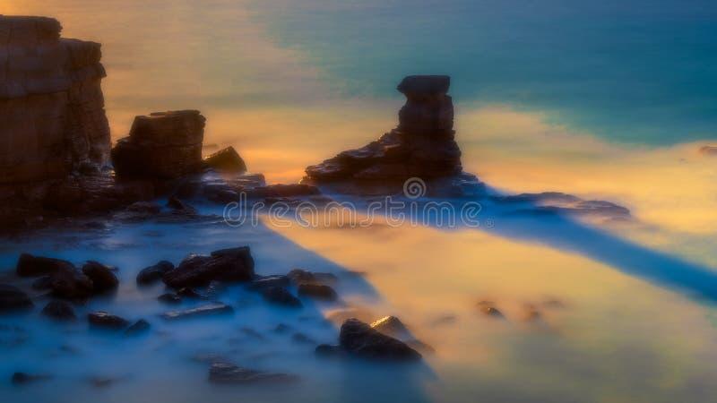 Bonifacio bij het de zomer blauwe uur royalty-vrije stock afbeeldingen