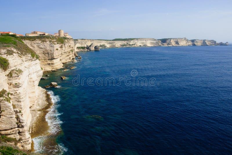 Bonifacio Citadel royaltyfria foton