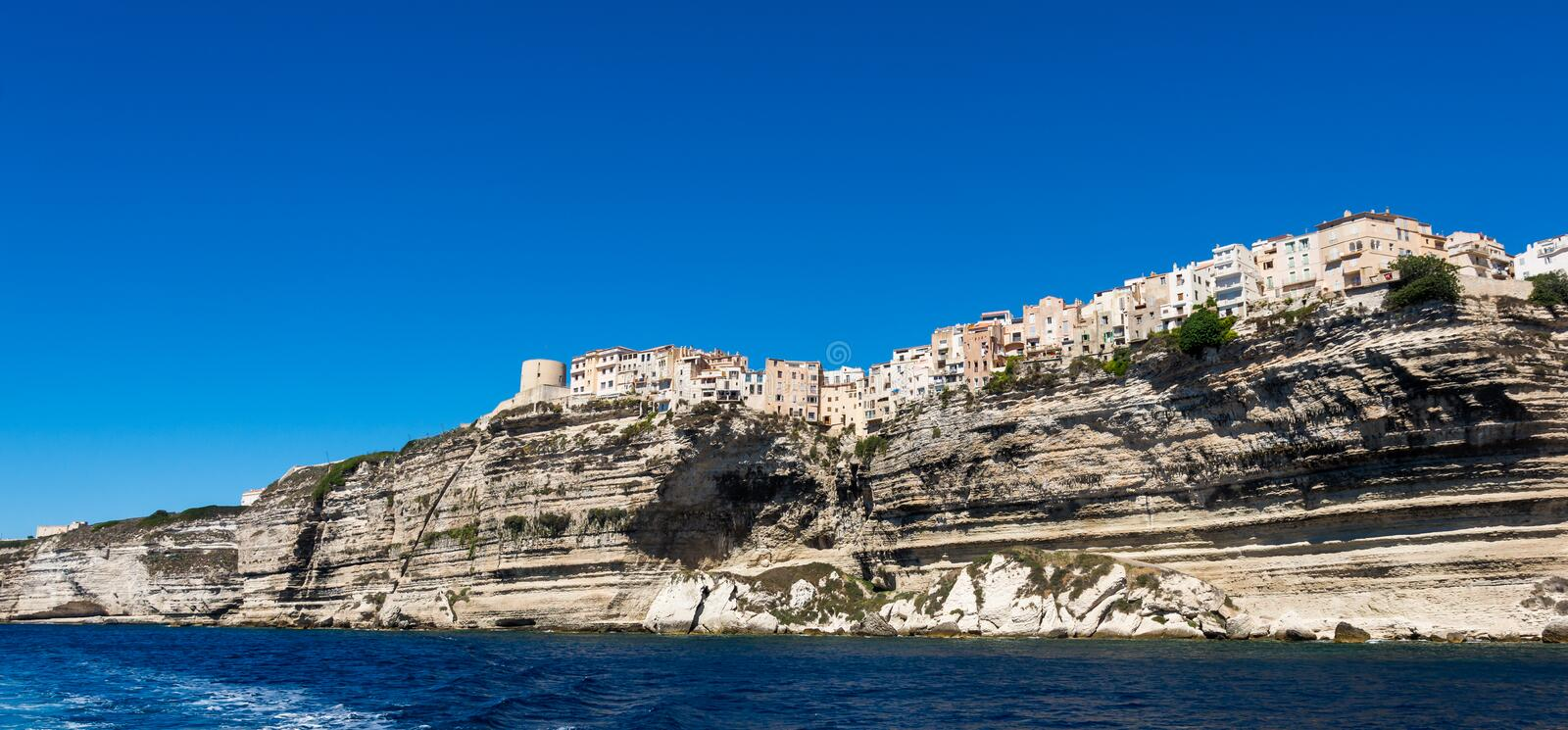 Bonifacio city, Corsica stock photo