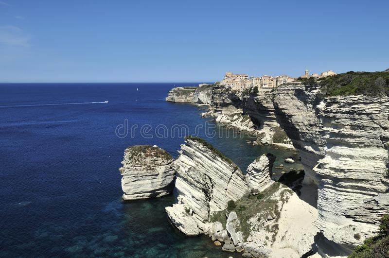 Bonifacio, Corse, Frankrijk stock foto's