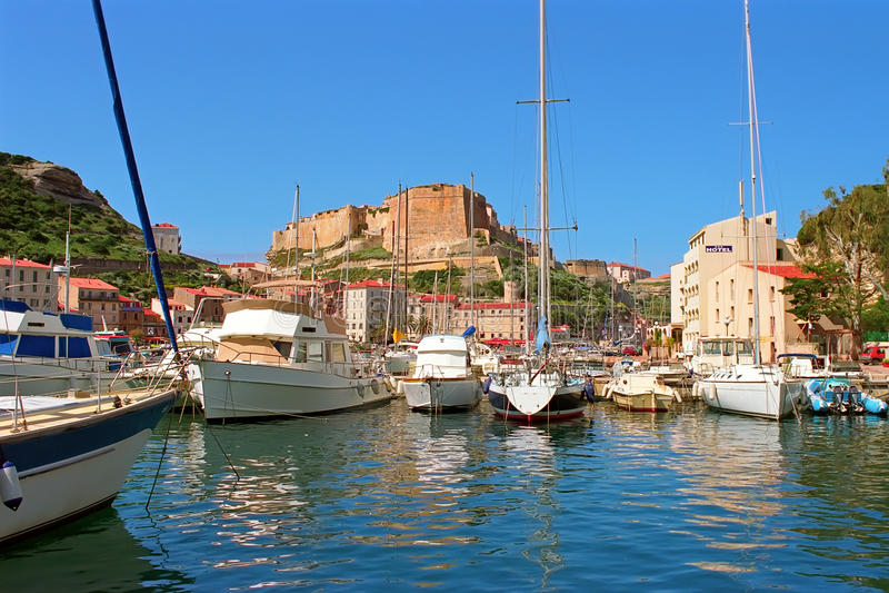 Bonifacio Corsica obrazy royalty free