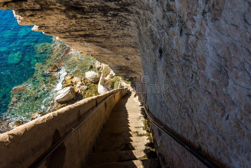 Bonifacio fästning Korsika fotografering för bildbyråer