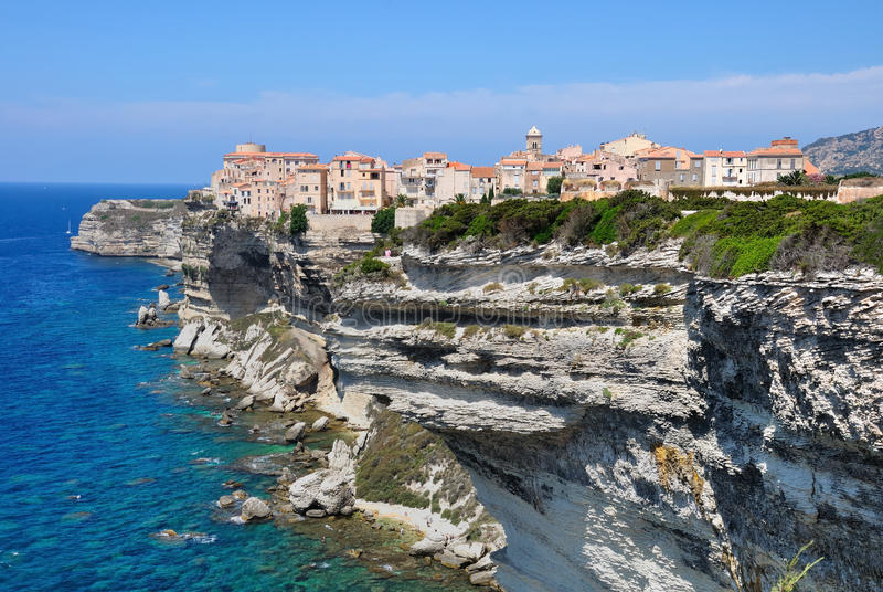 Bonifacio i Korsika royaltyfri fotografi