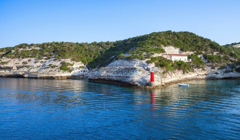 Bonifacio, isla de Córcega, Francia foto de archivo