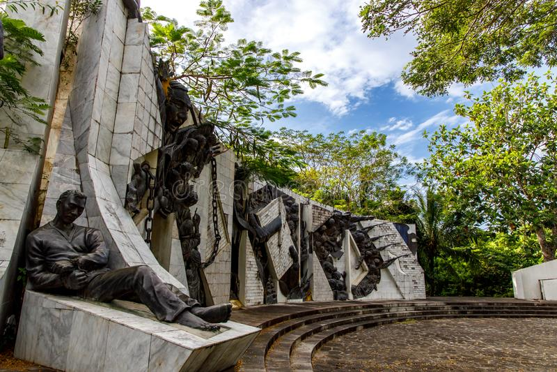 Bonifacio Shrine, Cavite, Philippines, Oct 26, 2019. Oct 26, 2019 Bonifacio Shrine park at Cavite, Philippines stock photography