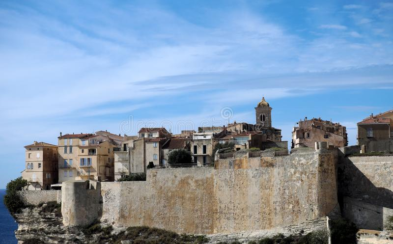 Bonifacio-Stadt Korsika stockbilder
