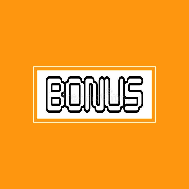 Bonification marquant avec des lettres les éléments oranges de conception de logo d'insigne d'autocollant d'icône de fond illustration libre de droits