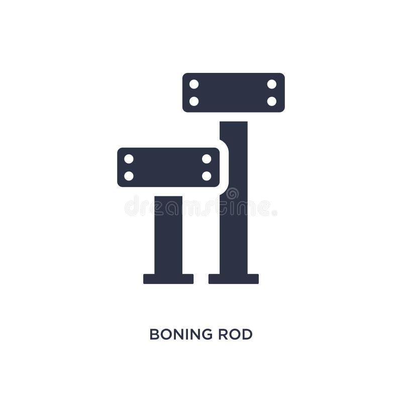 boning prącia ikona na białym tle Prosta element ilustracja od budowy pojęcia ilustracja wektor