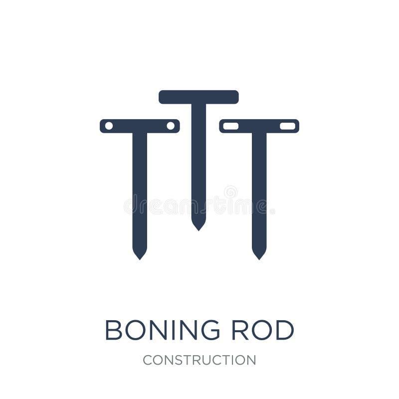 Boning prącia ikona Modna płaska wektorowa Boning prącia ikona na białym bac ilustracji