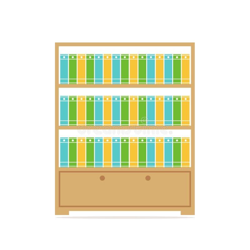 bonita Большой bookcase иллюстрация вектора