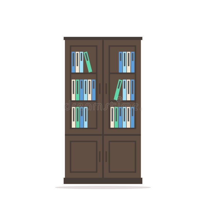 bonita Значок изолированный Bookcase иллюстрация вектора