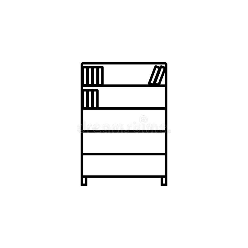 bonita Элемент значка образования для передвижных apps концепции и сети Тонкую линию bookcase можно использовать для сети и черни иллюстрация штока