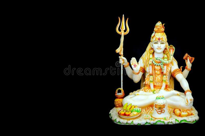 Bonita mão esculpida estátua de mármore do deus hindu, senhor shiva imagem de stock
