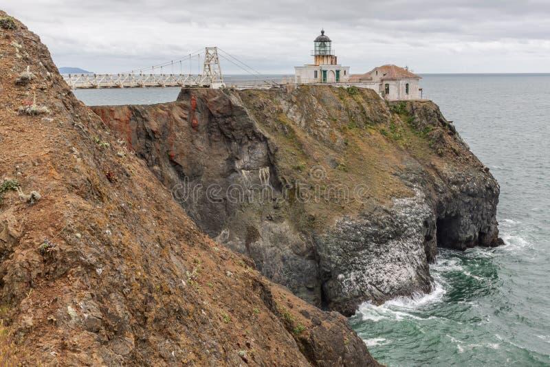 Bonita Point Light House San Francisco fotografering för bildbyråer