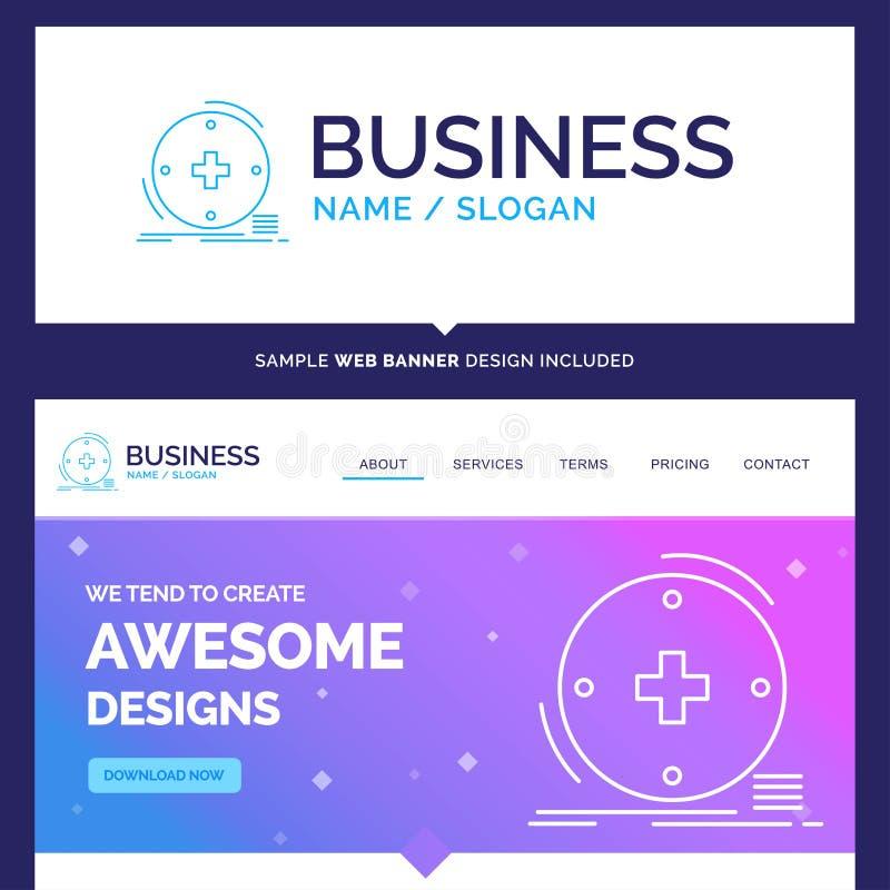 Bonito conceito do negócio marca clínico, digital, saúde ilustração stock