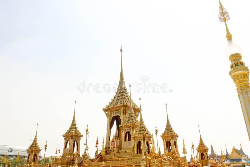 Bonito do crematório real para o HM o rei atrasado Bhumibol Adulyadej no 4 de novembro de 2017 imagem de stock royalty free