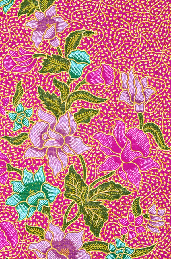 Bonito do teste padrão tailandês do Batik da arte imagens de stock royalty free