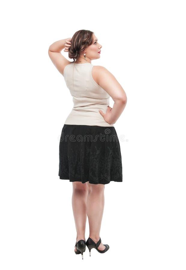 Bonito mais a mulher do tamanho foto de stock