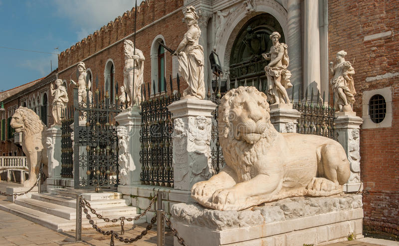 Os magnum de Porta no arsenal Venetian, Veneza, Italia foto de stock royalty free