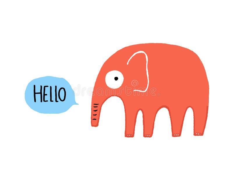Bonjour éléphant images stock