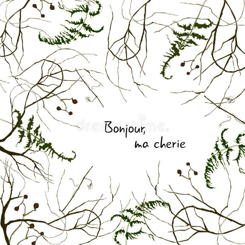 Bonjour, μΑ cherie διανυσματική απεικόνιση
