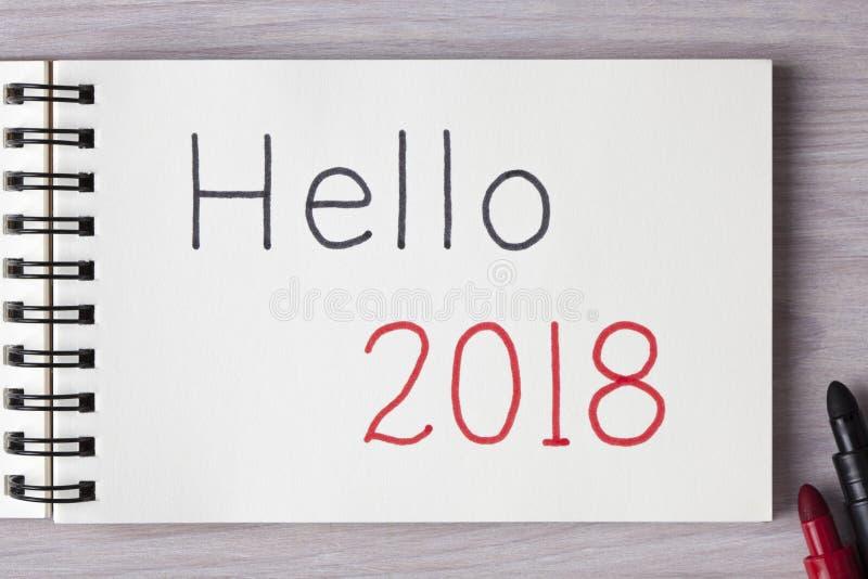 Bonjour 2018 images libres de droits