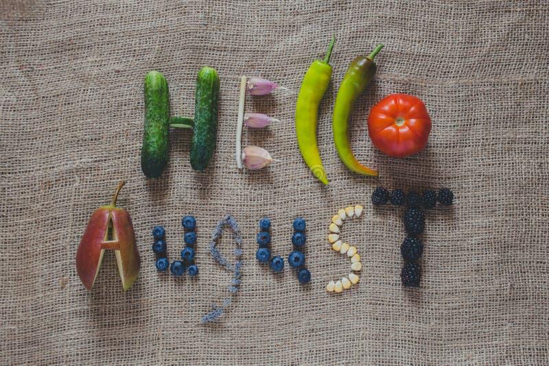 Bonjour auguste images libres de droits