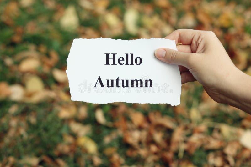 Bonjour automne photo libre de droits