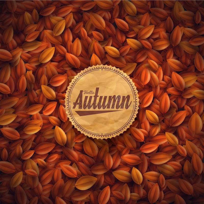 Bonjour automne illustration stock