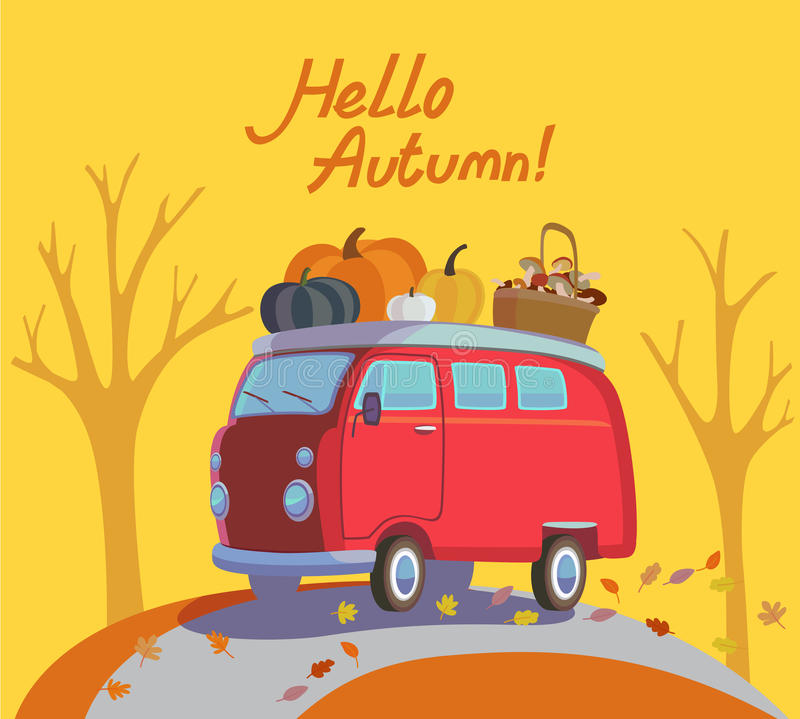 Bonjour automne illustration de vecteur