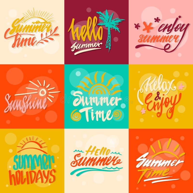 Bonjour callygraphy d'été images libres de droits