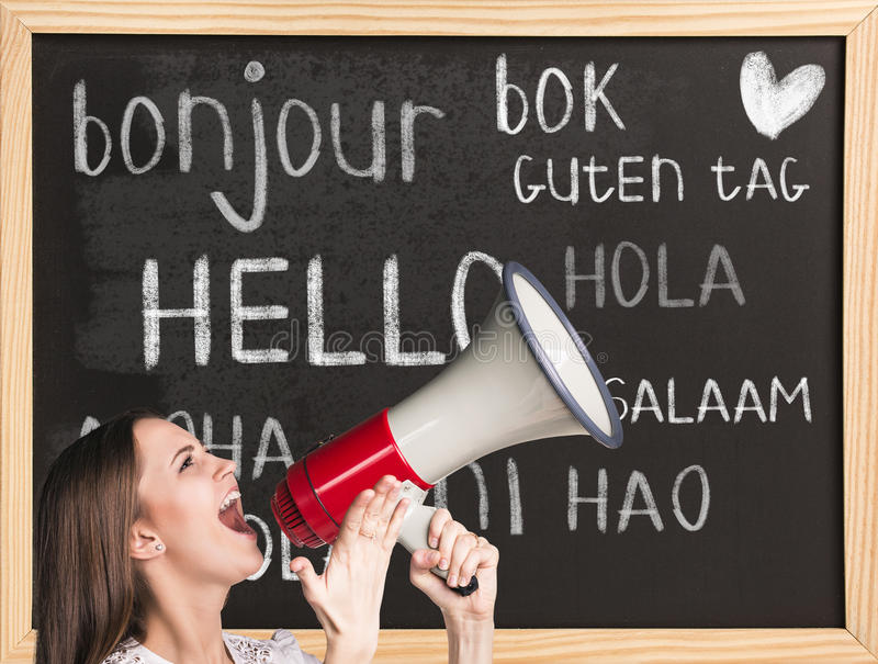 Bonjour dans différentes langues photos libres de droits