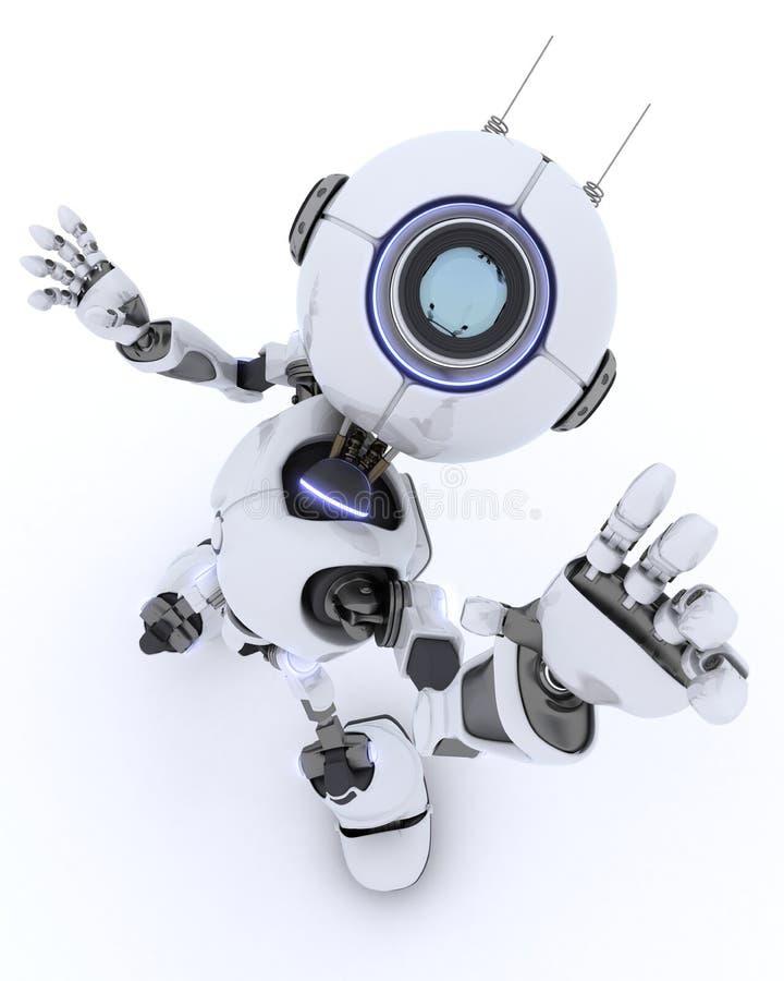 Bonjour de ondulation de robot illustration stock