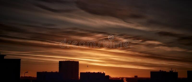 Bonjour Estonie levers de soleil photos libres de droits