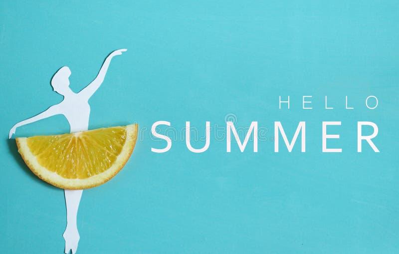 Bonjour fond d'été avec le fruit orange photographie stock libre de droits