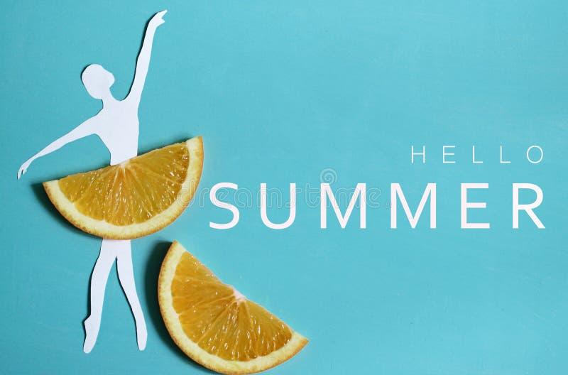 Bonjour fond d'été avec le fruit photos stock