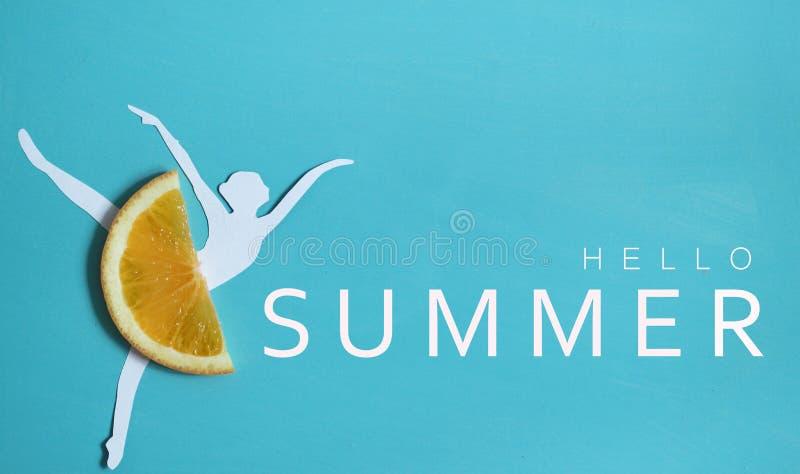 Bonjour fond d'été avec le nfruit orange photos libres de droits